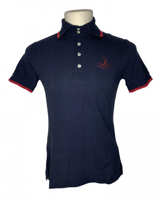 Vivienne Westwood Navy Cotton Polo shirts