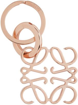 Loewe Rose Gold Anagram Keychain