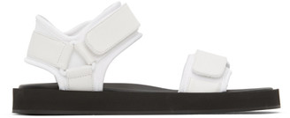 The Row White Hook-And-Loop Sandals