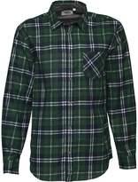 Kangaroo Poo Mens Printed Check Long Sleeve Shirt Green/Navy/White