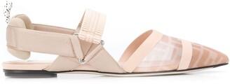 Fendi Colibri slingbacks ballerina shoes