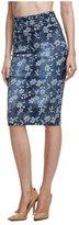 GUESS Floral Denim Longette Skirt