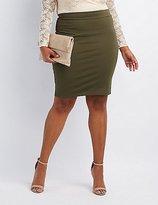 Charlotte Russe Plus Size Ponte Knit Pencil Skirt