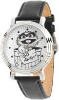 EWatchFactory Silver & Black Oscar the Grouch Leather-Strap Watch - Girls