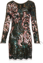 Roberto Cavalli Long-sleeved sequin-embellished mini dress