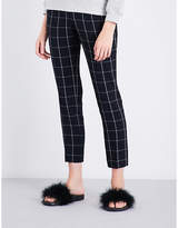 Claudie Pierlot Pia windowpane-check crepe trousers