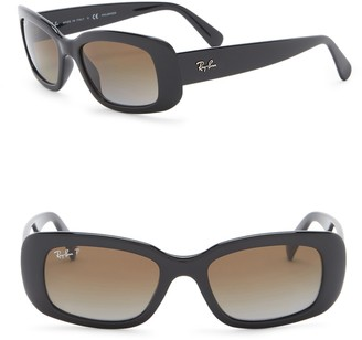 Ray-Ban 50mm Rectangle Polarized Sunglasses