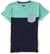 First Wave Big Boys 8-20 Short-Sleeve Color Block Pocket Tee