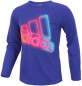 adidas Long Sleeve Crew Neck T-Shirt-Big Kid Girls