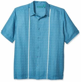 Cubavera Men's Space Dye Insert Panel Shirt
