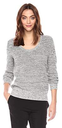 Theory Women's Long Sleeve Scoop Neck Pullover Sweater