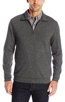 Haggar Men's Twill Knit Quarter Zip Sweater
