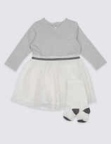 Marks and Spencer 2 Piece Ballet Wrap Baby Dress with Tights