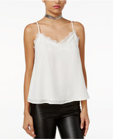 Lily Black Juniors' Lace-Trim Cami Top, Only at Macy's