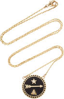 Foundrae Dream Petite Champleve Stationary Necklace