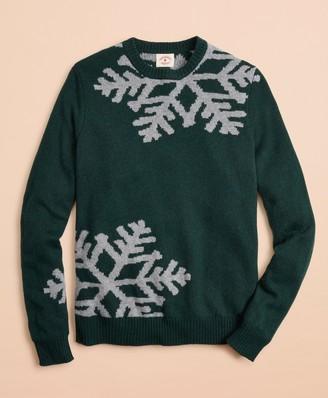 Brooks Brothers Snowflake Intarsia Sweater