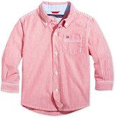 Tommy Hilfiger Baby Shirt, Baby Boys Long Sleeve Stripe Shirt