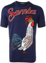 Dolce & Gabbana Samba rooster print T-shirt - men - Cotton/Polyester/Viscose - 46