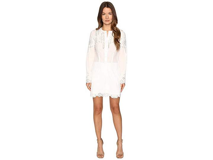 Yigal Azrouel Embroidered Cotton Romper Women's Jumpsuit & Rompers One Piece