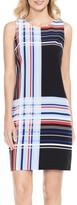 Vince Camuto Petite Women's Linear Graphic Shift Dress