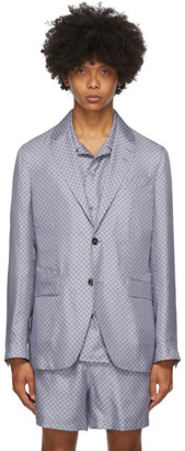 Tiger of Sweden SSENSE Exclusive Blue Giacca AMF Blazer