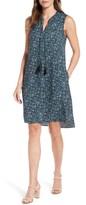 Nic+Zoe Petite Women's Seaglass Tassel Shift Dress