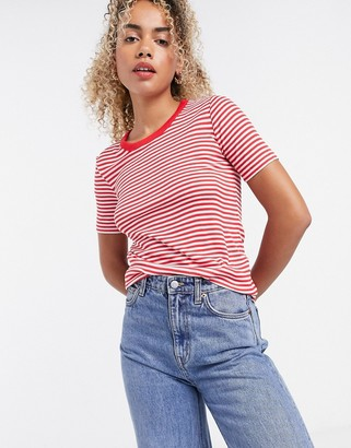 And other stories & stripe t-shirt in red