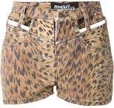 Jeremy Scott cut out leopard print shorts