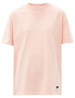 Acne Studios Elice Inverse Logo-tab Cotton T-shirt - Light Pink