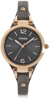 Fossil Georgia Three Hand Smoke and Rose Leather Watch