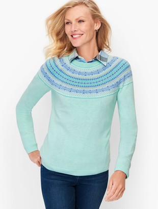 Talbots Fair Isle Yoke Sweater