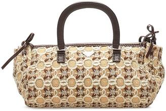 Prada Pre-Owned Geometric Embroidery Tote Bag