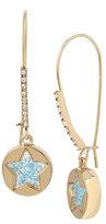 Betsey Johnson Confetti Blue Shakey Star Earring