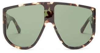 Linda Farrow X The Attico Iman Tortoiseshell Sunglasses - Womens - Tortoiseshell
