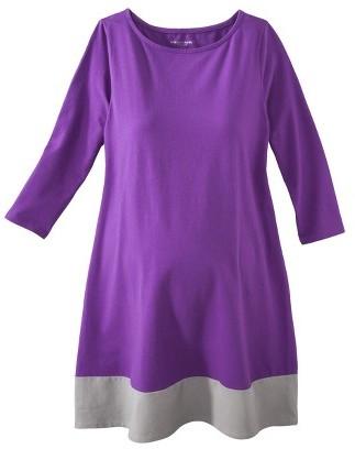 Maternity 3/4 Sleeve Shirt Dress