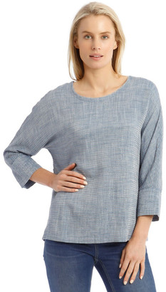 Regatta Textured Extended Sleeve Top With Step Hem