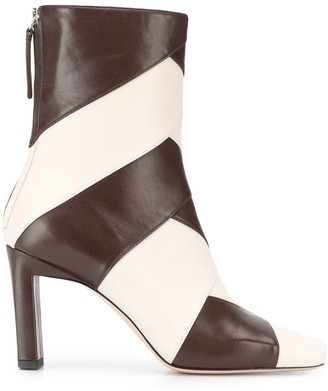 Wandler Isa two tone ankle boots