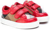 Burberry classic check touch strap sneakers - kids - Cotton/Leather/rubber - 17
