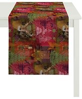 Apeltstoffe 5159 _ 48x140 _ 30 Table Runner, Cotton, Red, 140 x 48 x 0.5 cm