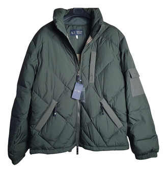 Armani Jeans Green Polyester Jackets