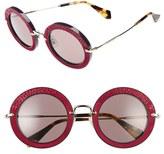 Miu Miu Women's 48Mm Round Sunglasses - Ivory