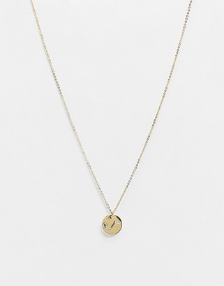 Accessorize Z for Aries star sign engraved necklace in gold plate