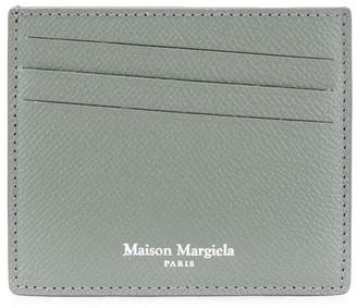 Maison Margiela Diagonal Card Slot Logo Print Cardholder
