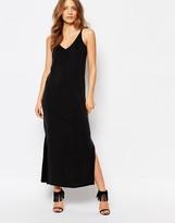 Warehouse Premium Cupro Side Split Midi Dress