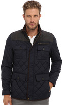 Vince Camuto Quilted Nylon Jacket With Plaid & Corduroy Details