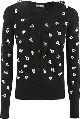 RED Valentino Floral Motif Cardigan