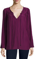 Ramy Brook Amelia Long-Sleeve Peasant Top