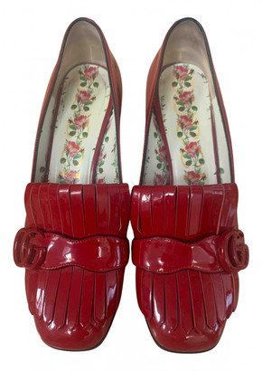 Gucci Marmont Red Patent leather Heels