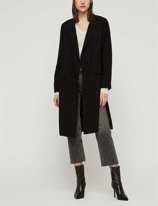 AllSaints Aleida crepe duster coat