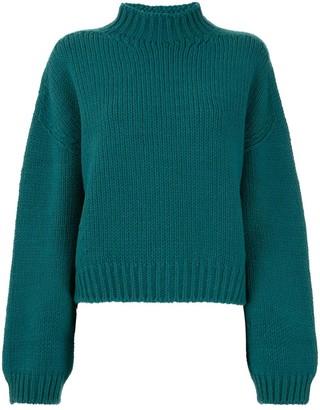 Le Ciel Bleu Ribbed Knit Jumper